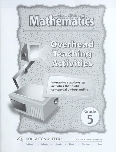 Houghton Mifflin Mathematics Level 5 Overhead Teaching Activities by No author specified