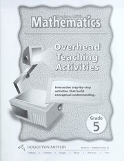 Cover of: Houghton Mifflin Mathematics Level 5 Overhead Teaching Activities | No author specified