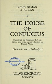 Cover of: The House of Confucius (Ulverscroft Large Print) | Kong Demao