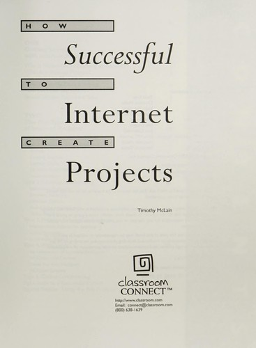 How to create successful Internet projects by Tim McLain
