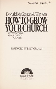 Cover of: How to Grow Your Church