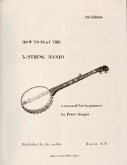 Cover of: How to play the 5-string banjo