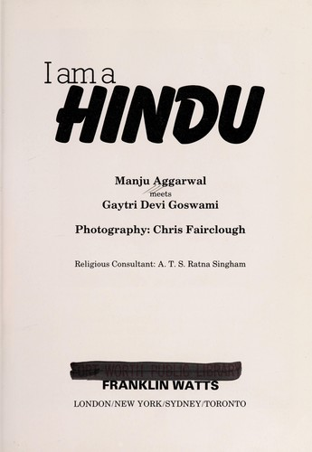 I am a Hindu by Manju Aggarwal