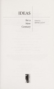 Cover of: Ideas for a new century |