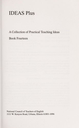 Ideas Plus Book # 14 (Practival Classroom Ideas by Teachers for Teachers) by