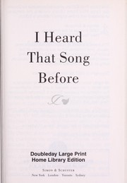 Cover of: I heard that song before