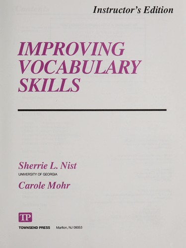 Improving vocabulary skills by Sherrie L. Nist