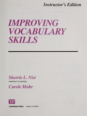 Cover of: Improving vocabulary skills | Sherrie L. Nist