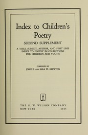 Cover of: Index to children's poetry