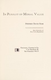 Cover of: In pursuit of moral value
