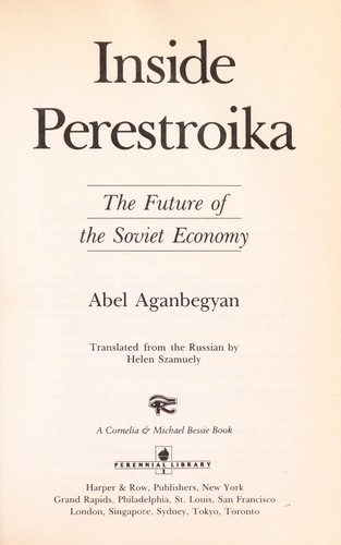 Inside Perestroika by Abel Aganbegyan