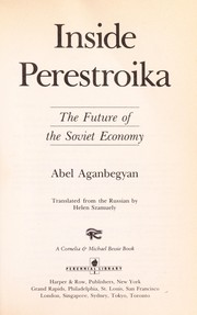 Cover of: Inside Perestroika | Abel Aganbegyan