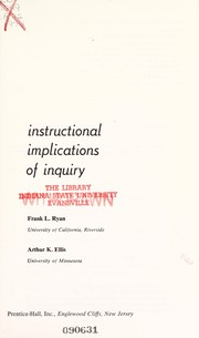 Cover of: Instructional implications of inquiry | Ryan, Frank L.