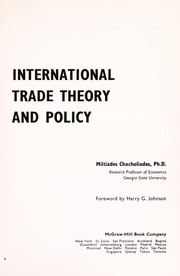 Cover of: International trade theory and policy | Miltiades Chacholiades