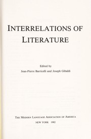 Cover of: Interrelations of literature |