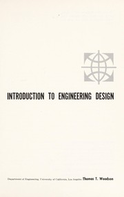 Cover of: Introduction to engineering design | Thomas T. Woodson