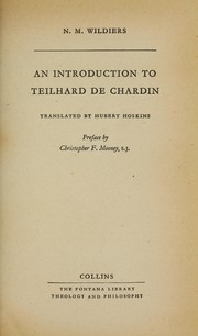 Cover of: An introduction to Teilhard de Chardin, tr