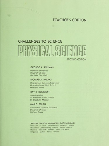 Physical science by George A. Williams ... [et al.].