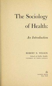 The sociology of health: an introduction
