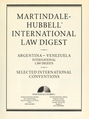 Cover of: Martindale-Hubbell International Law Digest | Martindale-Hubbell