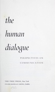 Cover of: The human dialogue