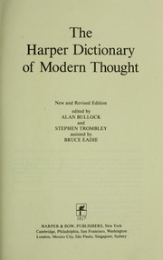 Cover of: The Harper dictionary of modern thought. |