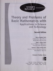 Schaums outline of theory and problems of basic mathematics with applications to science and technology