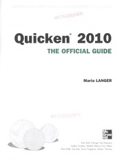 Cover of: Quicken 2010 | Maria Langer