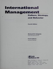 Cover of: International management | Richard Hodgetts