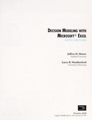 Cover of: Decision Modeling with Microsoft Excel | Jeffrey H. Moore