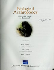 Cover of: Biological anthropology | Craig B. Stanford