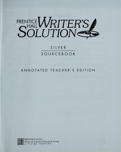 Writer's Solution (Silver Sourcebook) by