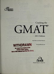 Cover of: Cracking the GMAT | Geoff Martz