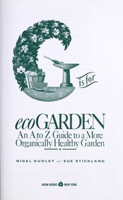 Cover of: G Is for Ecogarden | Nigel Dudley