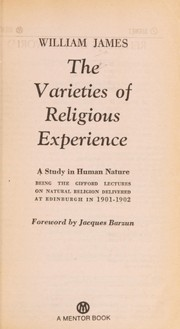 Cover of: The Varieties of religious experience | William James