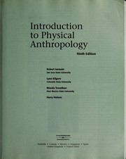 Cover of: Introduction to physical anthropology | Robert Jurmain ... [et al.].