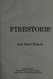Cover of: Firestorm!