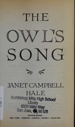 Owl's Song, The by Janet Campbell Hale