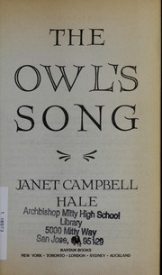Cover of: Owl's Song, The | Janet Campbell Hale