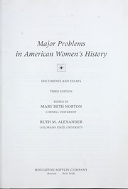 Cover of: Major problems in American women's history