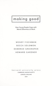 Cover of: Making good |
