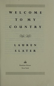 Cover of: Welcome to my country