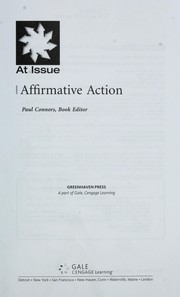 Cover of: Affirmative action |