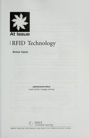 Cover of: RFID technology |