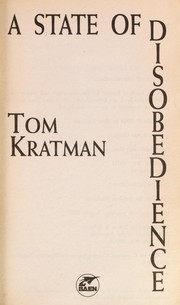 Cover of: A state of disobedience | Tom Kratman