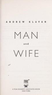 Cover of: Man and wife