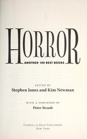 Cover of: Horror