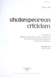 Cover of: Shakespearean Criticism (Shakespearean Criticism (Gale Res)) |