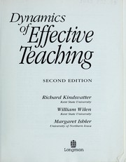 Cover of: Dynamics of effective teaching