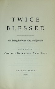 Cover of: Twice blessed